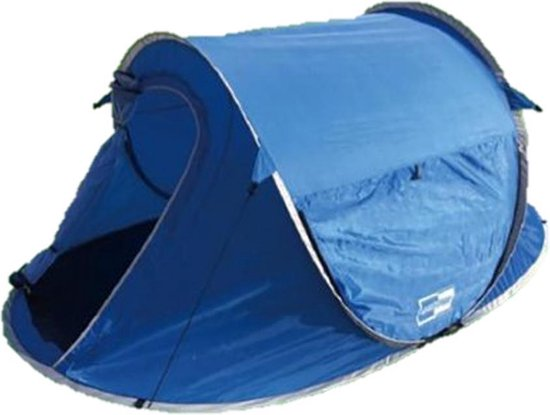 Pop Up Tent 245 X 145 X 95 Cm Waterdicht & Uv Beschermd - Blauw - 2 Persoons