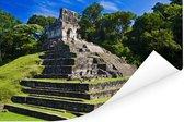 Palenque oude ruïnes van tempel De La Cruz in Mexico Poster 60x40 cm - Foto print op Poster (wanddecoratie woonkamer / slaapkamer)