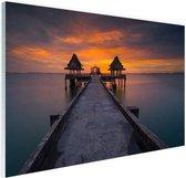 Sunset in Thailand foto afdruk Glas 180x120 cm - Foto print op Glas (Plexiglas wanddecoratie) XXL / Groot formaat!