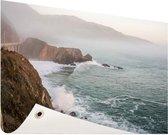 Kliffen Amerika Tuinposter 120x80 cm - Tuindoek / Buitencanvas / Schilderijen voor buiten (tuin decoratie)