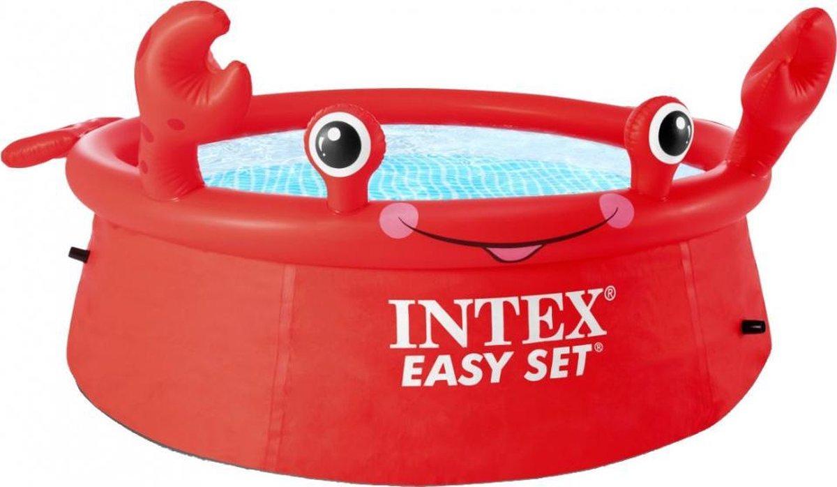 opblaaszwembad Happy Crab 183 x 51 cm pvc rood
