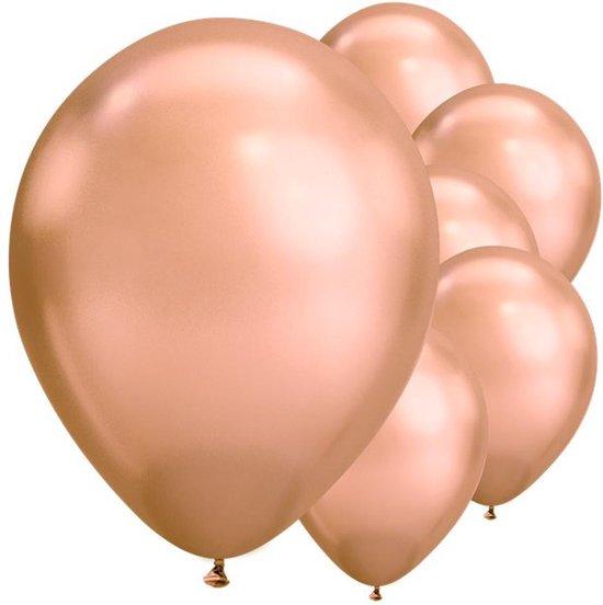 Ballonnen Chrome Rose Goud - 5 stuks