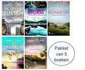 Omslag De Zeven Zussen - Lucinda Riley Nederlandse boeken - Pakket De Zeven Zussen 1,2,3,4 en 5 - Lucinda Riley de Zeven Zussen