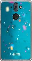 Nokia 8 Sirocco Hoesje Transparant TPU Case - Confetti #ffffff