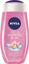 NIVEA Waterlily & Oil Douchegel - 6 x 250ml - Voordeelverpakking