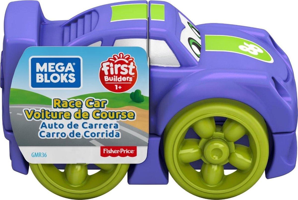 Fisher Price racewagen Mega Bloks jongens 10 cm paars/groen