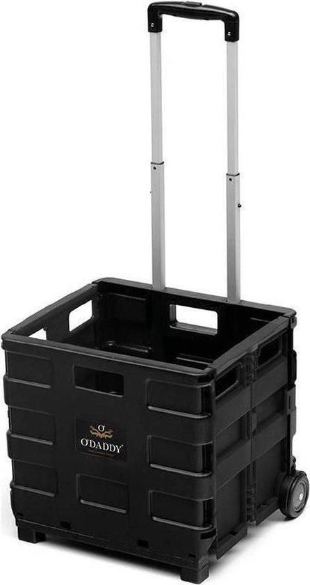 O'DADDY Boodschappentrolley met 2 wielen - XL 50L zwart - Inklapbaar...