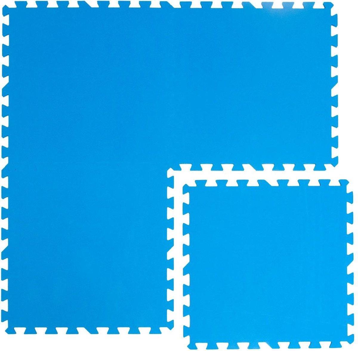 Zwembadmat Vloerbescherming Tegels Vloermatten 50x50 cm Blauwe Puzzelmat