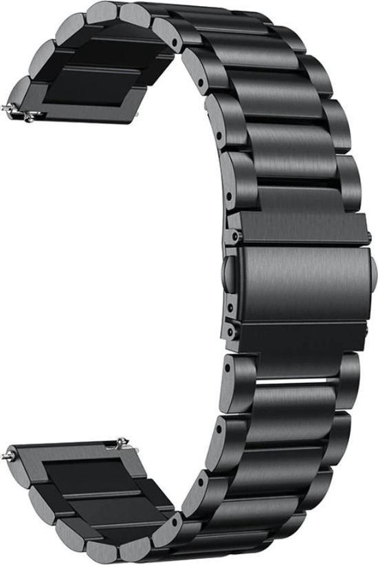 Metaal schakel bandje Zwart geschikt voor Samsung Galaxy Watch 42mm & Galaxy Watch Active
