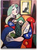Handgeschilderd schilderij Olieverf op Canvas - Pablo Picasso 'Vrouw op Sofa'