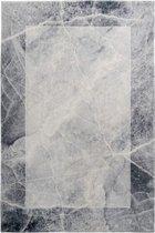 Grijs Tapijt Laagpolig Vloerkleed - Omid Marble - 160x230cm- Modern - Woonkamer - Salon - Slaapkamer - Eetkamer