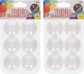 12x stuks Tafeltennis pingpong balletjes 40 mm/4 cm - 12 stuks - Sportief speelgoed - Sporten - Tafeltennissen
