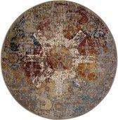 Picasso Feraghan Vintage Rond Vloerkleed Multi / Beige Laagpolig - 200 CM ROND