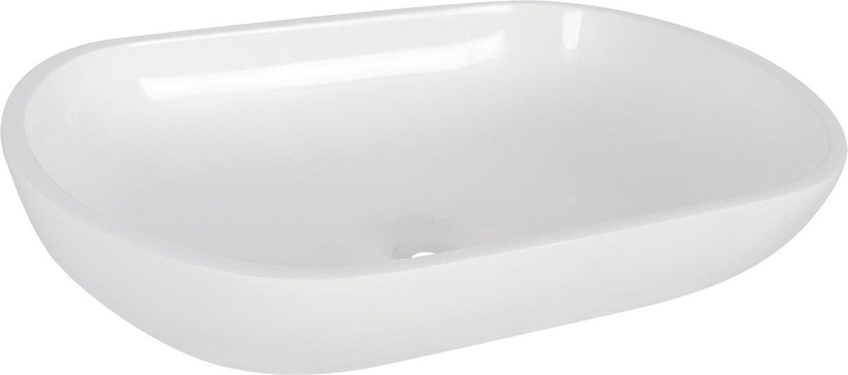 Differnz Ovalo - Waskom polybeton - Ovaal - 54 x 34 x 12cm