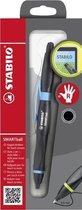 STABILO SMARTball 2.0 - Ergonomische Balpen Met Touchscreen Functie - Rechtshandig - Zwart/Cyaan Blauw