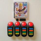 Buzz: Quiz World + 4 Wireless Buzzers
