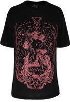 Restyle Top -3XL- Lucifer Burgundy Zwart