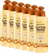Garnier Loving Blends Honing Goud Haarcrème - 6 x 200ml - Voordeelverpakking