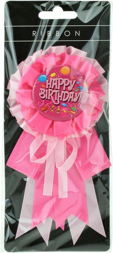 Toi-toys Rozet Happy Birthday Roze 16 Cm