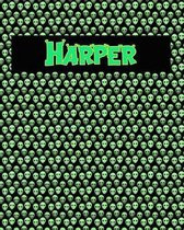 120 Page Handwriting Practice Book with Green Alien Cover Harper