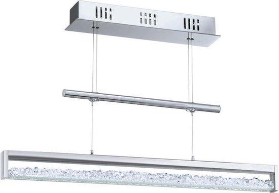 EGLO Cardito 1 - Hanglamp - Lengte 700mm. - Chroom - Kristal