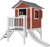 AXI Beach Lodge XL Speelhuis Scandinavisch rood - Witte Glijbaan