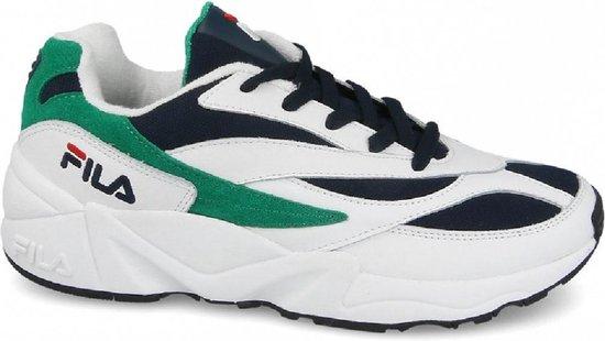 Fila Venom Low Sneakers Heren - White/Green-Black - Maat 43