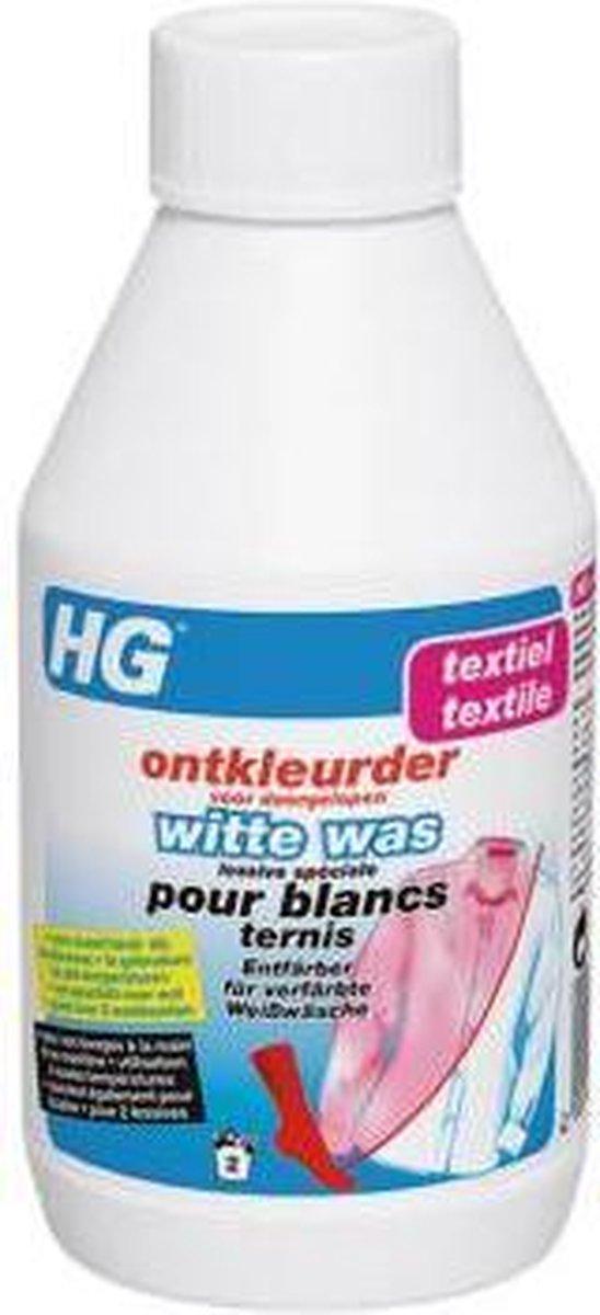 HG ontkleurder voor doorgelopen witte was | herstelt verkleuring