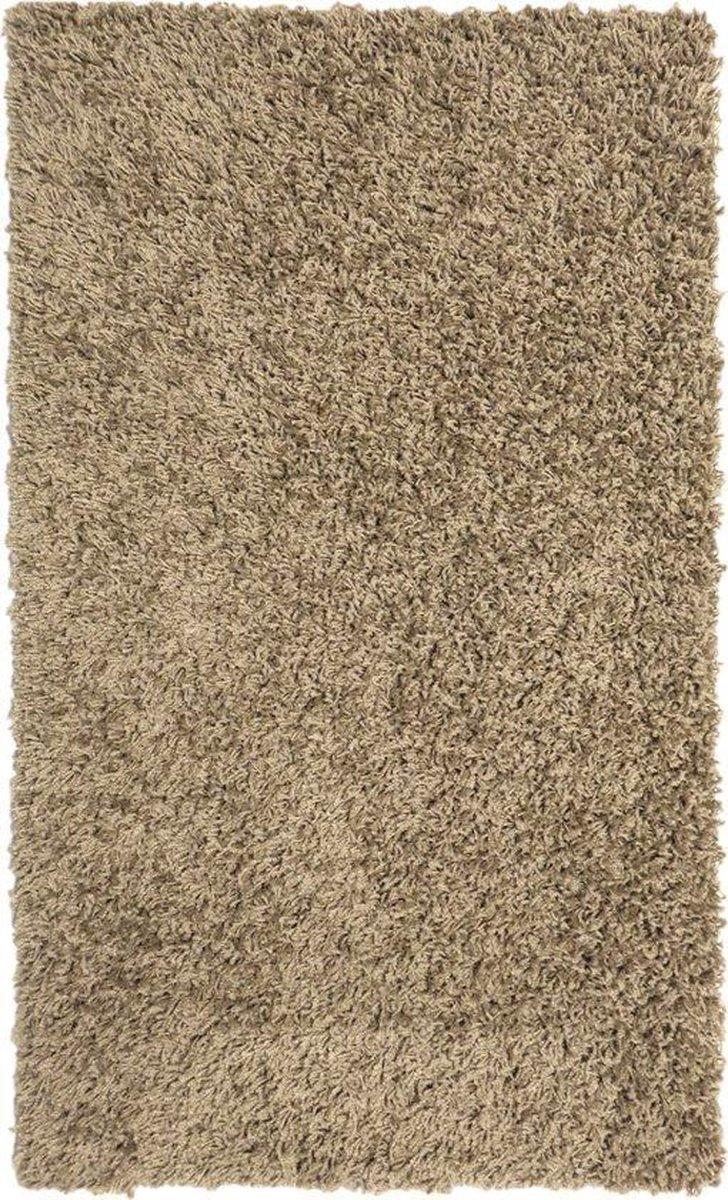 Hoogpolig tapijt taupe 25 mm - 60 x 100 cm - Ikado