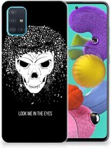 Silicone Back Case Samsung Galaxy A51 Skull Hair