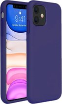 iPhone 11 Hoesje Siliconen Case Hoes Back Cover TPU - Donker Blauw
