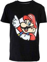Super Mario Nintendo Super Mario Kinder T-Shirt Zwart Unisex T-shirt