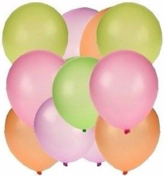Neon ballonnen 100 stuks - Feestdecoratie/versiering - Feestballonnen