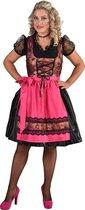 Dirndl Luxe Rozen Zwart/Roze - Maat L