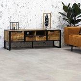 Dimehouse TV-meubel Industrieel Oberon - Mangohout - 150x51 cm
