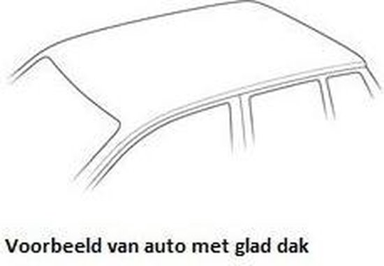 CAM (MAC) dakdragers staal Fiat Punto Evo 5-dr Hatchback 2009-2012 met glad dak