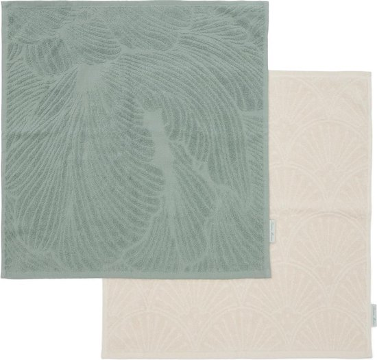 Riviera Maison Les Fleurs Kitchen Towel 2 pieces - Green - 50.0 x 50.0