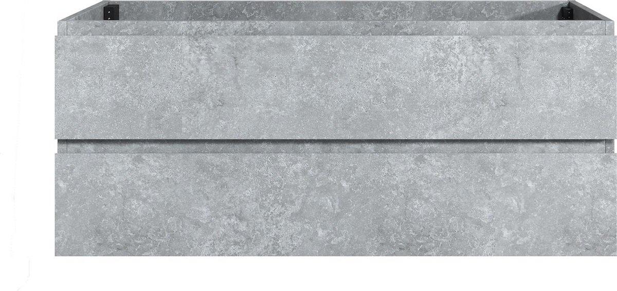 Badplaats - Wastafelkast Angela 120cm - Grijs - zonder wastafel