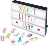 Alecto ALB-01 Letter Lightbox - Regenboog kleuren letters - Maak je eigen boodschap - Wit