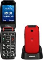 Profoon PM-665 Mobiele klaptelefoon - Eenvoudig menu met extra grote iconen en tekst - SOS knop