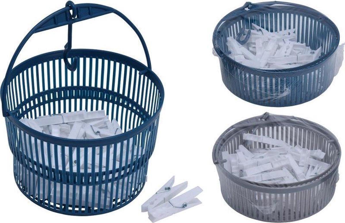 Wasknijpermand met 50 knijpers