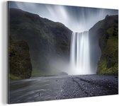 Waterval Aluminium 60x40 cm - Foto print op Aluminium (metaal wanddecoratie)