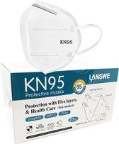 Lanswe Hoogwaardige Medische FFP2 (KN-95) Mondkapjes / Mondmaskers | Medisch Gecertificeerde Mondmaskers - 20 Stuks
