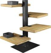 Gusta Serveertoren - 4 bamboe planken
