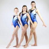 Sparkle&Dream Turnpakje / Gympakje Nadia Blauw - AME | maat XS/S - voor turnen en gymnastiek
