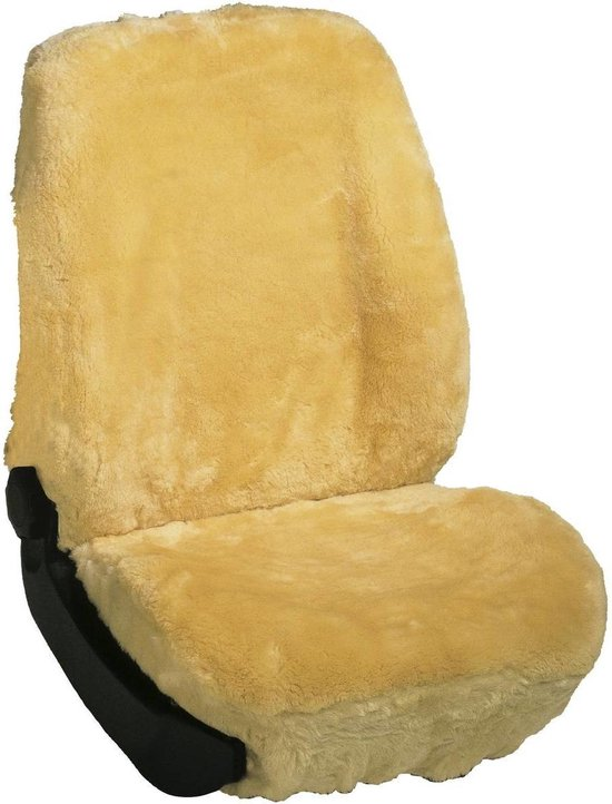 Autostoelhoes schapenvacht, beige
