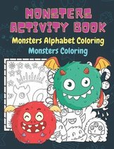 Monsters Activity book, Monsters Alphabet Coloring, Monsters Coloring