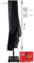 COVER UP HOC ZweefParasolhoes met Rits 265 cm.Beschermhoes Parasol / Afdekhoes Parasol met rits en stok Zwart 265x50/58