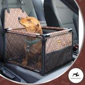 Luxe Autostoel hond designer - Inclusief opbergtas en E-Book - Reisbench hond - Hondenmand auto - Autobench voor hond - Hondenstoel auto