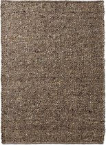 Wollen vloerkleed handweef Oslo - bruin 160x230 cm